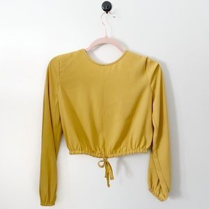 Wilfred Cairo Gold Crop Blouse